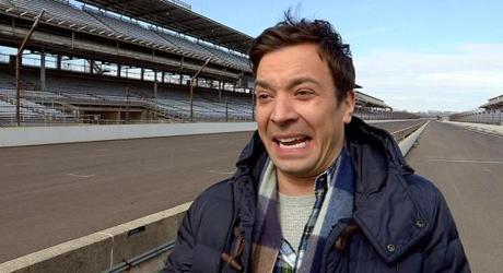 for Names - 01names - Jimmy Fallon took a ride around the Indianapolis Motor Speedway with IndyCar superstar Marco Andretti, after filming a segment for Fallon's Late night show. The comedian said it was a frightening experience. (Darren Durlach/ Globe Staff)